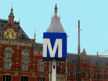 Metro arrêt transports publics station