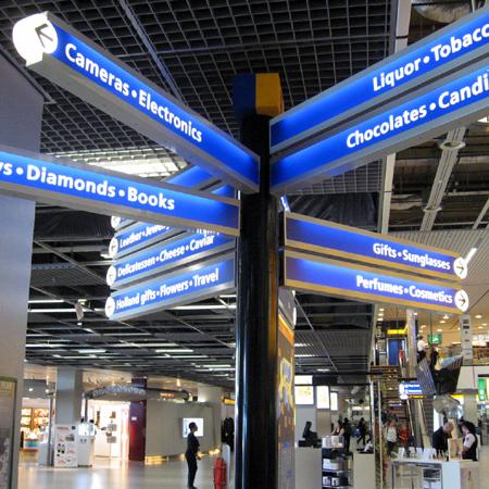 Piazza del terminale dell'aeroporto di Schiphol